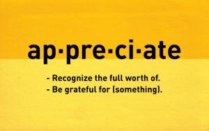 appreciate