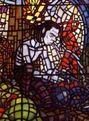 Nick Cave stained glass