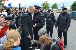 Keith Hebden protest drone warfare