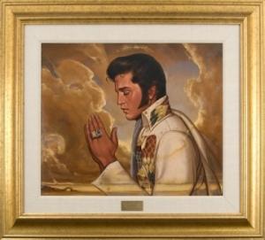Praying Elvis