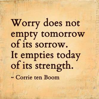 Image result for worry and fear