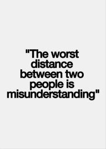 misunderstanding